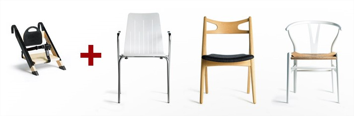 Minui transforms every chair to high chair